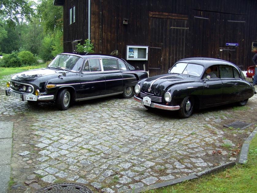 1961 Tatra T603 and T600 Tatraplan