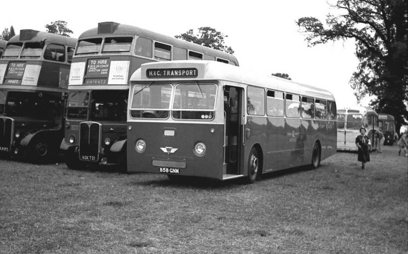 1962 Willowbrook B65F bodied AEC Reliance, 858GNM