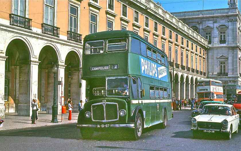 1963 AEC Regent V's with a Weymann-influenced H40-33F body. Lisbon