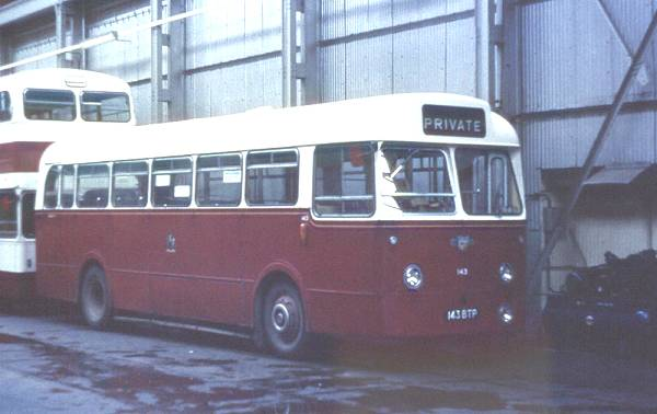 1963 Leyland Leopard with bodywork by Weymann B42D