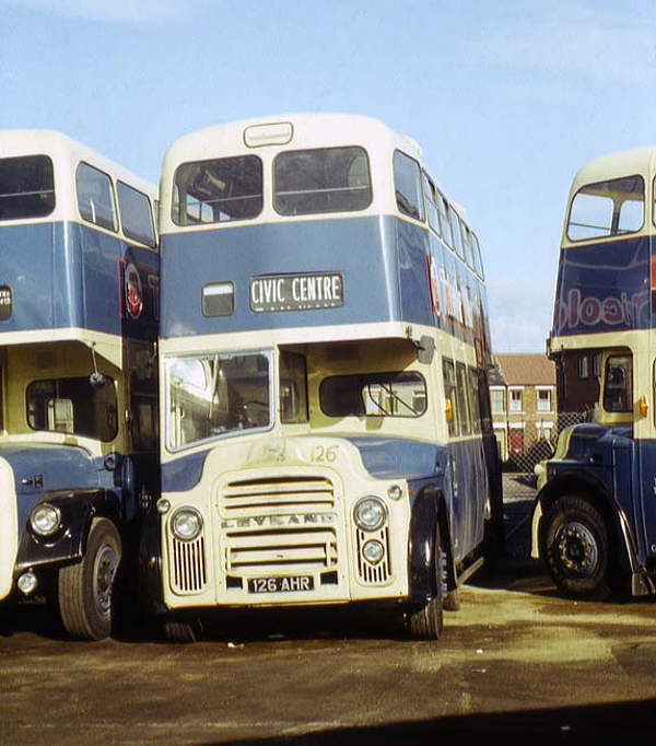 1963 Leyland Titan PD2A-24s (with pneumo-cyclic gearboxes) the Orion body buit by Weymann