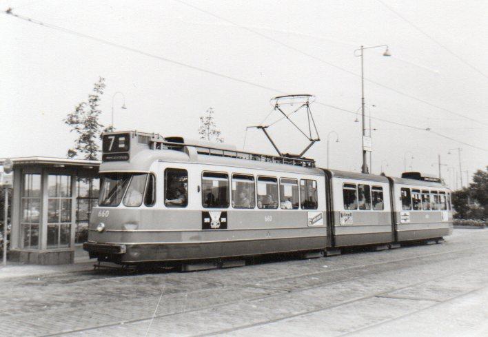 1964 Amsterdamse dubbelgelede tram 660 (serie 5G)