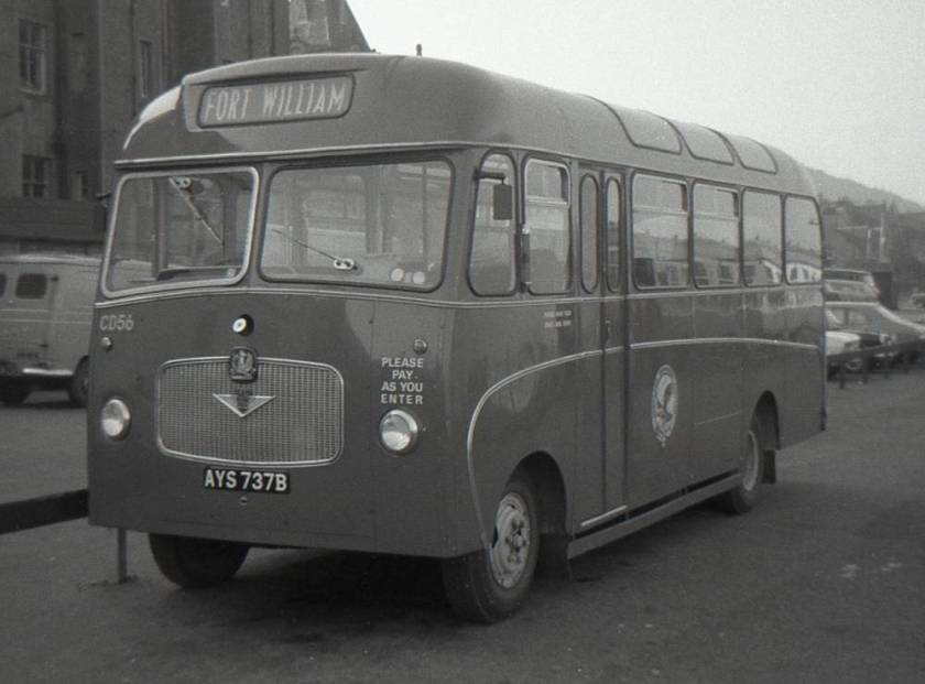 1965 Bedford VAS1 with Willowbrook B28F bodywork