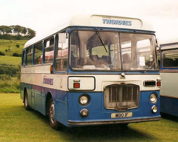 1966 Bristol LHS MBO1F which has a 1961 Weymann body from a 1961 Western Welsh Albion Nimbus
