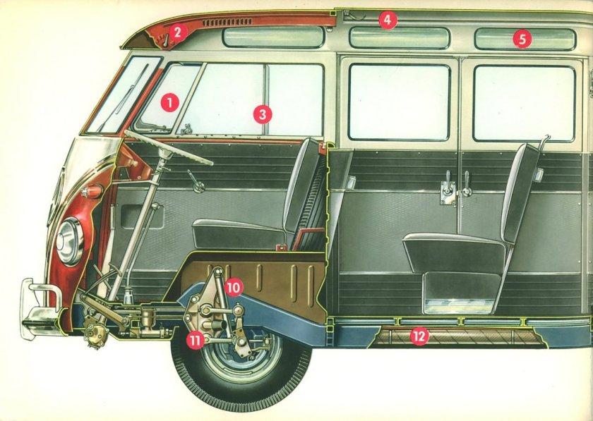 1967 VW Bus Samba (Bulli) 4cyl boxer brochure