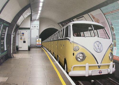 1967 VW Bus Samba (Bulli) 4cyl boxer f metro