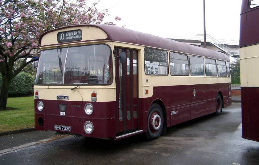 1969 Daimler Fleetline SRG6LW with Willowbrook B44F bodywork