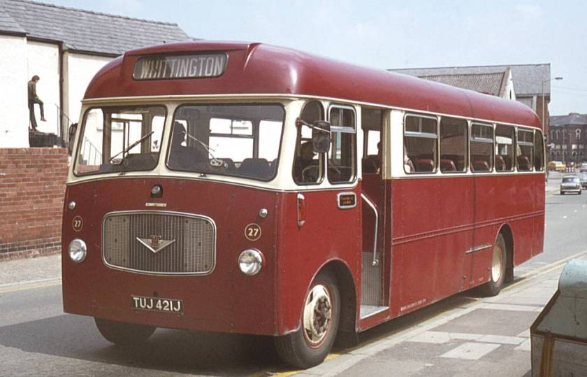1971 Bedford SB5 with Willowbrook DP39F bodywork