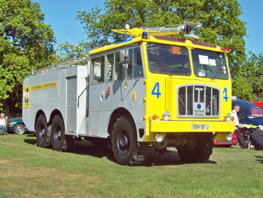 1971 Thornycroft Nubian Major Foam Tender Engine 12000 V8 Cummins Diesel