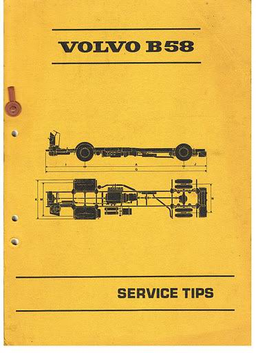 1972 VOLVO B58 Service Tips