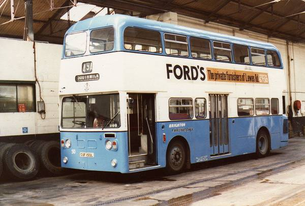 1973 Willowbrook bodied Leyland Atlantean No 50, CUF150L