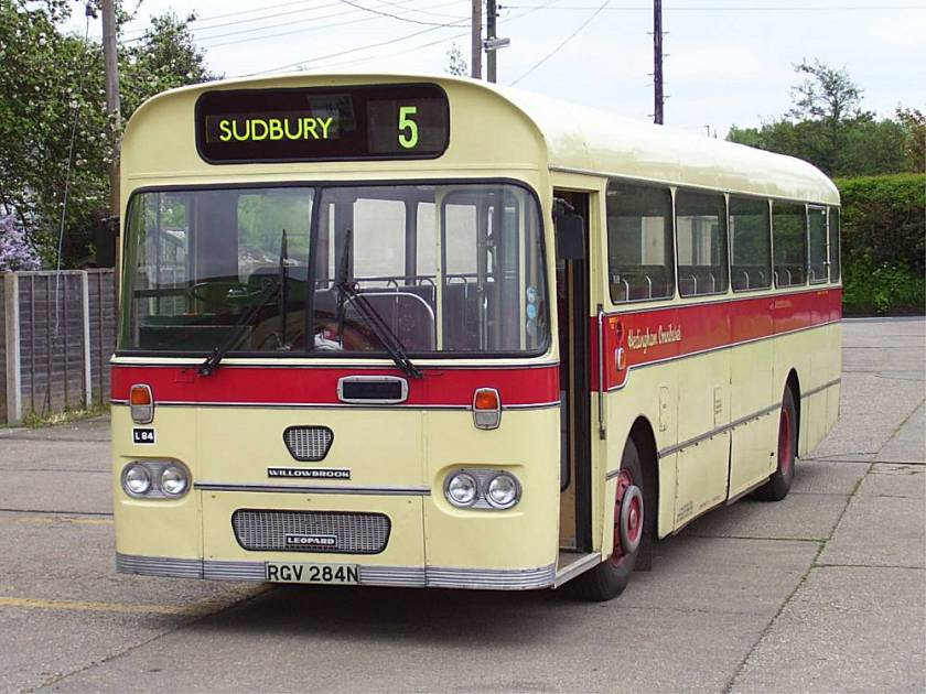 1974 Leyland Leopard L84, RGV284N, with Willowbrook B55F