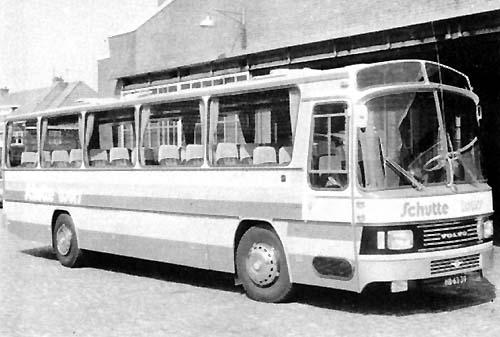1974 Volvo B58-60-Domburg tourwagen nr33 met 50 zitplaatsen, in dienst in Schutte 44