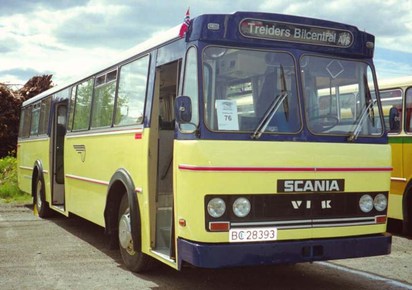 1975 BC28393 is a Scania BF111-63 with a bus body by VBK (Vestfold Bil og Karosseri)