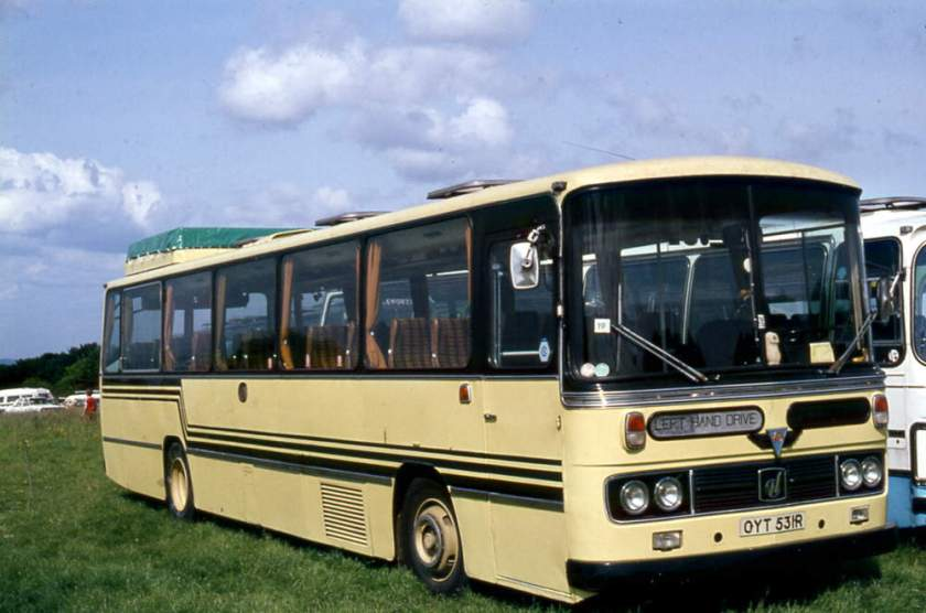 1976 A.E.C. 6U3ZL Reliances to National Travel (South East) with Willowbrook C47F bodies