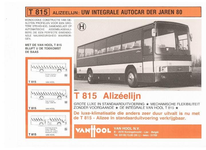 1978 VAN HOOL ALIZËE  T815