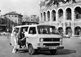 1978 Volkswagen Transporter 1970's Minibus Rome Colosseum