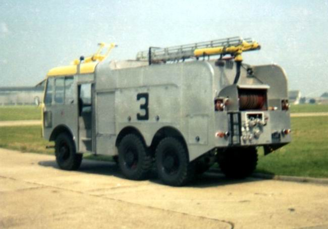 1980 Crash Trucks Thornycroft, Crash 3, on the Fire Station