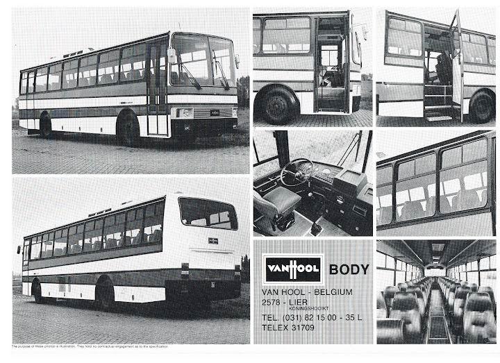 1980 VAN HOOL 760 BODY