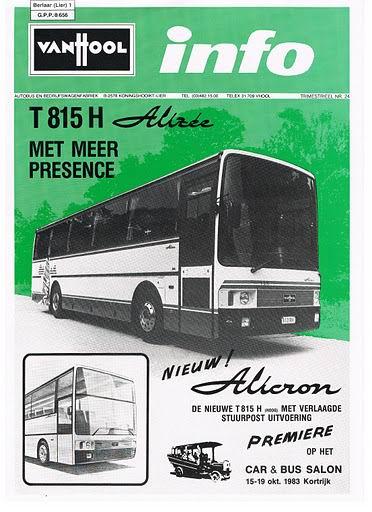 1983 VAN HOOL INFO T815H Busworld