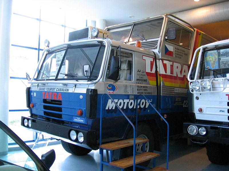 1987 Tatra 815 GTC (Grand Tourist Caravan) van de expeditie Tatra rond de wereld