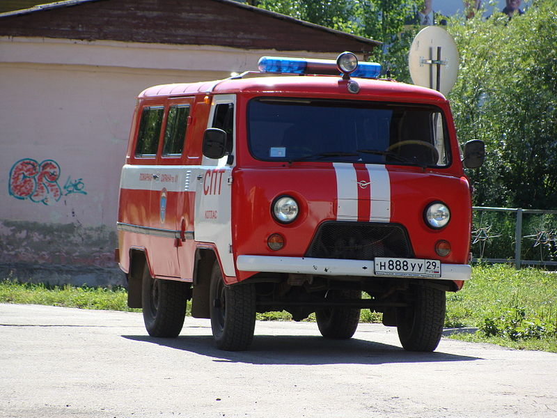 1995 UAZ-452-based fire-engine