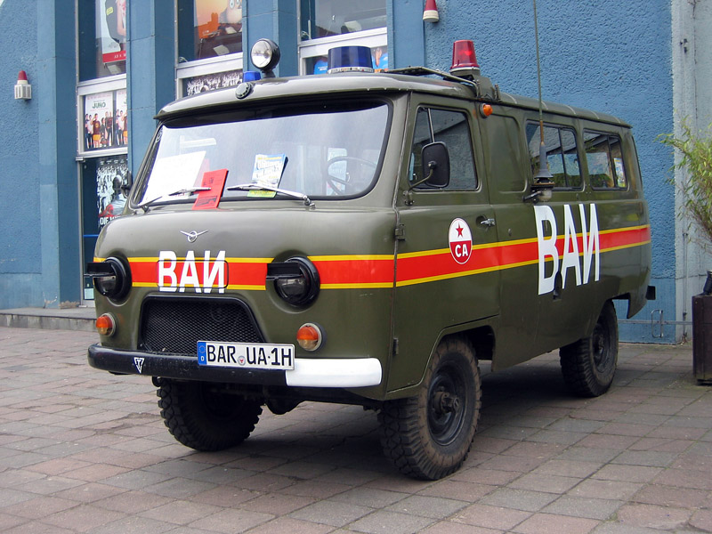 2000 UAZ-452 of the Soviet Army Road Police