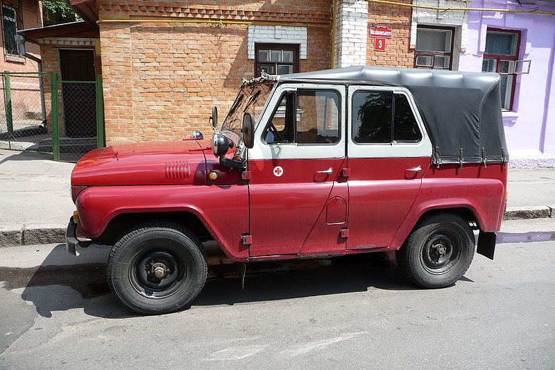 2005 UAZ-469 medical modification, used in Ukraine