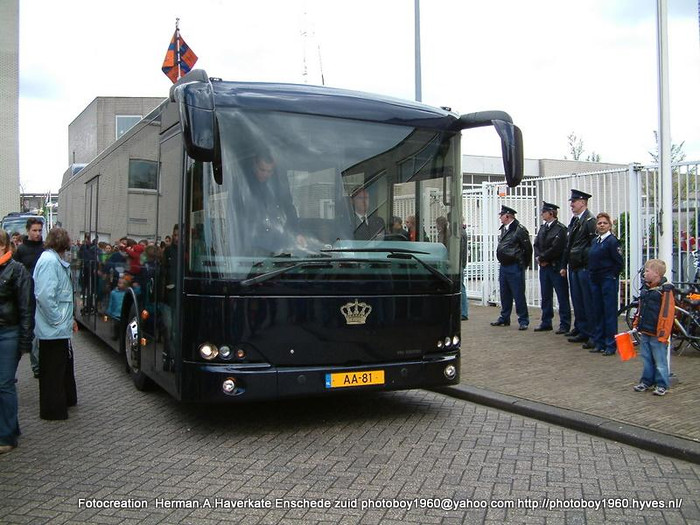 2007 VDL bus van Koningin Beatrix