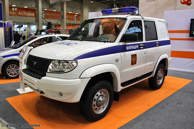 2010 UAZ Patriot Sport police vehicle