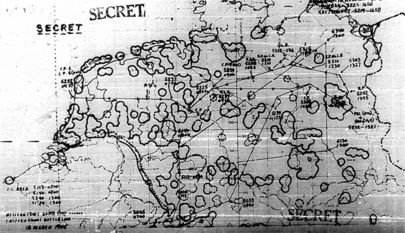 Angriffsplan der 95th USAAF Bomb Group17MAR45Map001