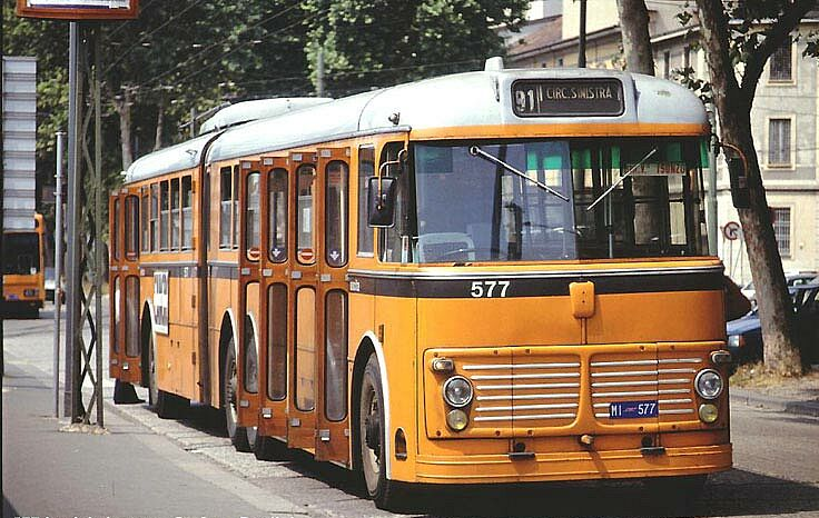 Articulated trolleybus Fiat 2472 with Viberti body in Milano