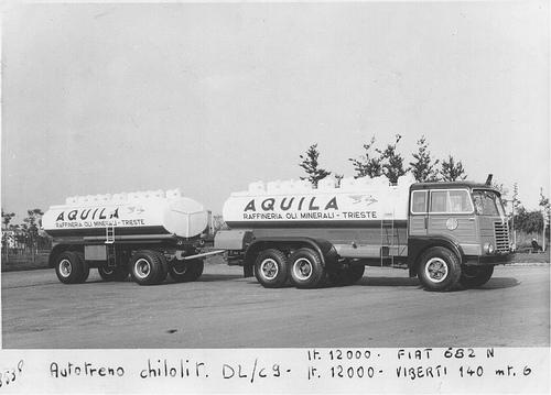 Autotreno cisterna Fiat 682N Viberti