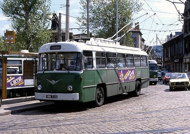 Berliet-Vetra trolleybus, of STAS (Société de Transports de l'Agglomération Stéphanoise) St Ettiene