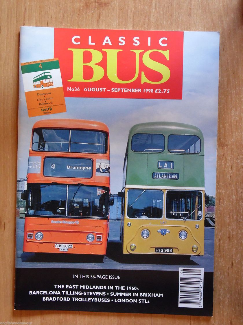 Classic Bus No.36 1998 East Midlands 1960s,Barcelona Tilling-Stevens,London STLs