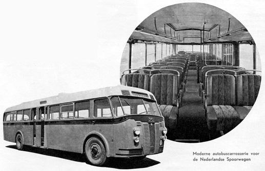 Crossley-bus met door Werkspoor gebouwde carrosserie uit werkspoor-1827-1952 autobuscarrosserie