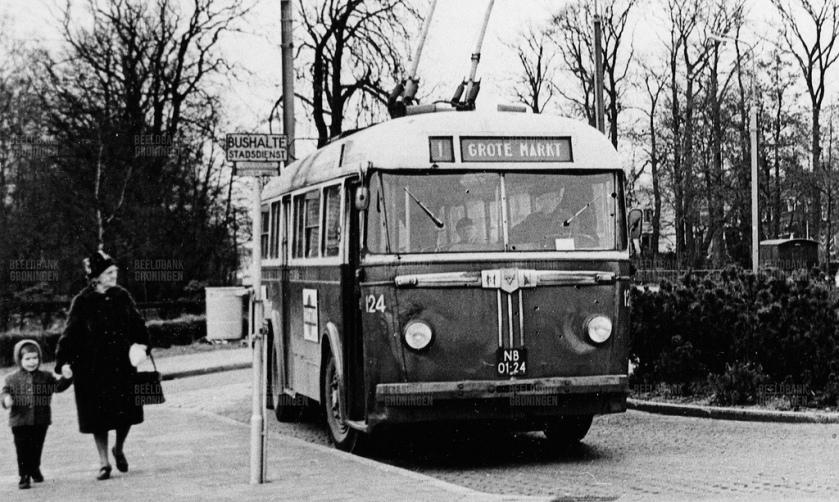 Daf-Verheul Trolleybus (NB-01-24), Groningen