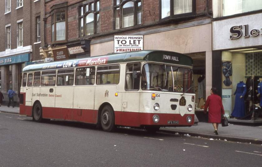 Daimler Fleetline SRG6LW with Willowbrook B44F bodywork 704G