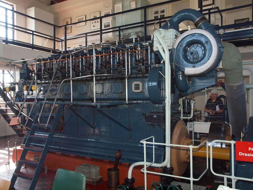 Dieselmotor Gemaal Cremer.