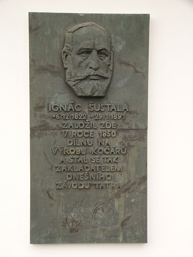 Ignac Sustala memorial plaque