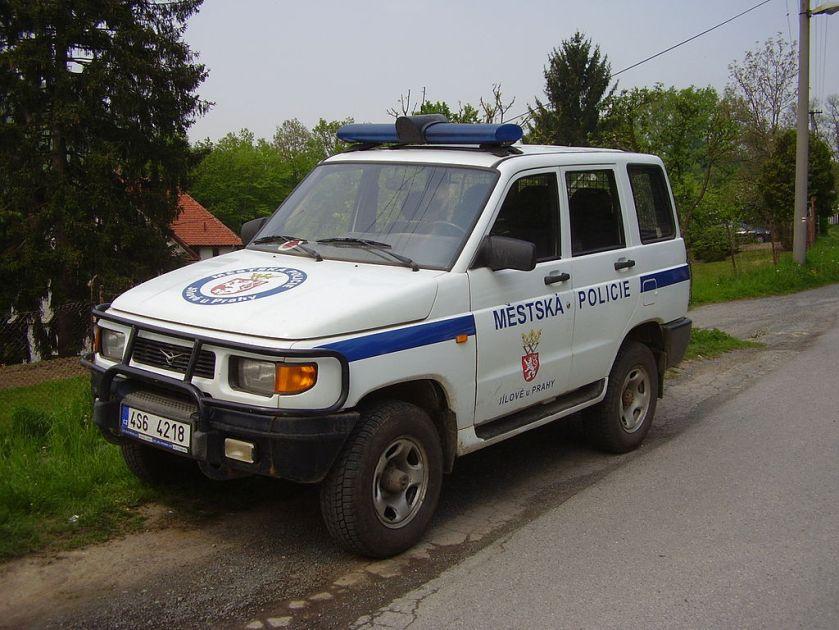 Jílové u Prahy, vůz městské policie