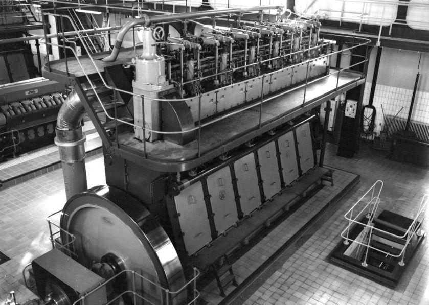 Stationaire Werkspoor dieselmotor.