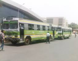Tata DTC bus at New DElhi Railway Station