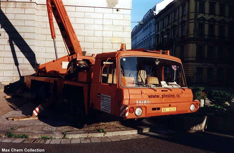 Tatra 815 low profile crane 6 6. Prague. Prague