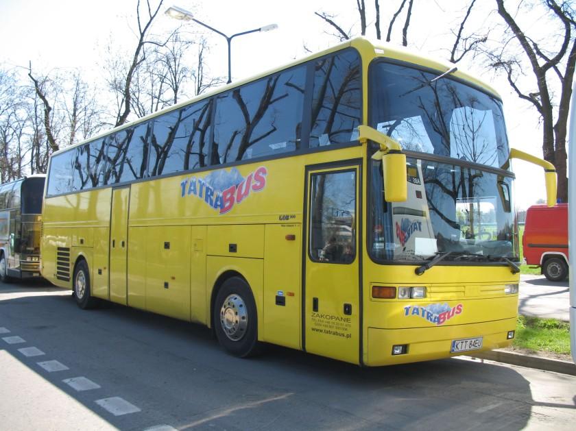Tatra Bus Zakopane EOS 200 coach in Kraków, Poland.