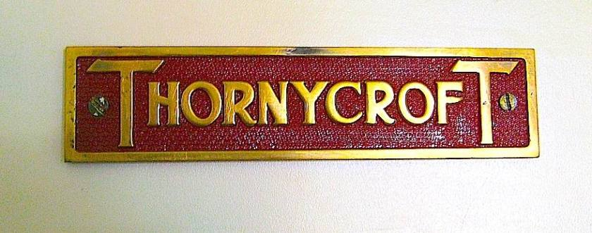 THORNYCROFT ENGINE BADGE