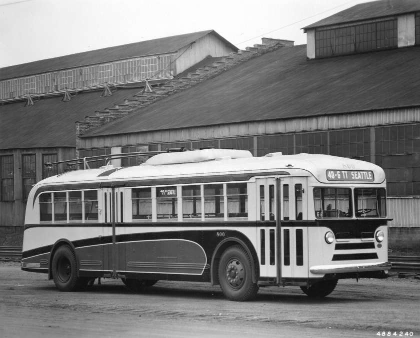 Twin Coach trolley bus