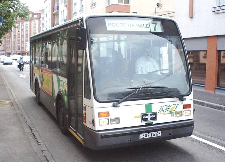 VAN HOOL A 508 du réseau urbain TRACE de Colmar.