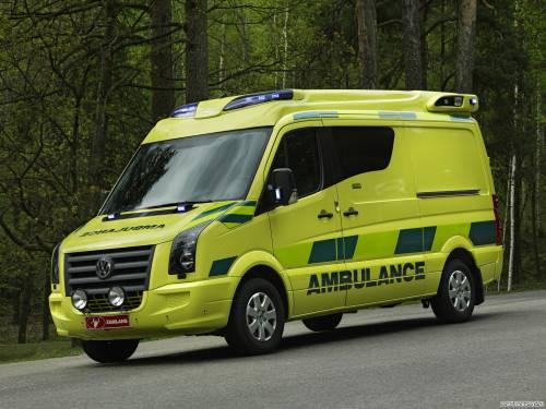 Volkswagen Crafter tamlans pegabus ambulance