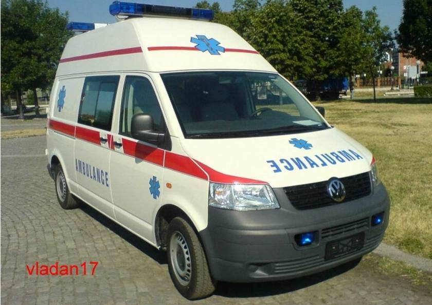 Volkswagen T5 ambulance Nikola Tesla Airport Servië